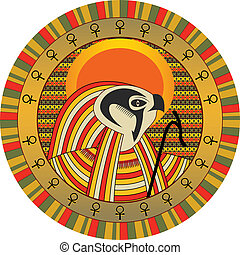 gud, egyptisk, ra, sol