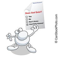gud, existera, forska