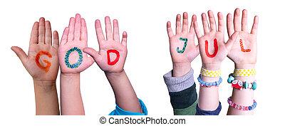 gud, jul, bygning, betyder, hænder, baggrund, isoleret, jul...