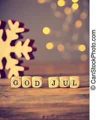 gud, jul, jul, merry, nordisk