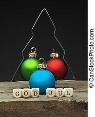 gud, jul, nordisk, merry, cvhristmas