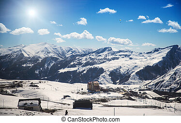 Gudauri ski resort in Georgia with beautiful views