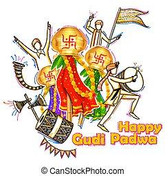 Gudi Padwa celebration of India