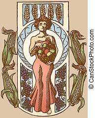 gudinde, høst