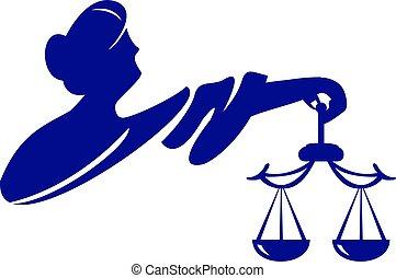gudinde, themis, illustration., justice., femida, vektor