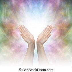 gudomlig, helbrägdagörelse, energi