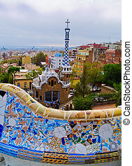 guell, barcellona, parc, spagna