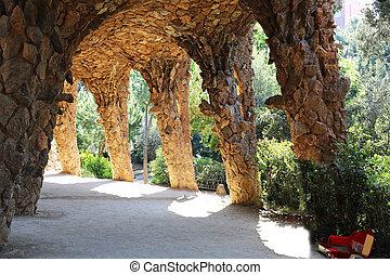 guell, musée, viaduc, parc, barcelone