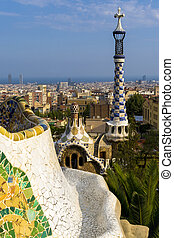 guell, parc, barcellona, (spain)