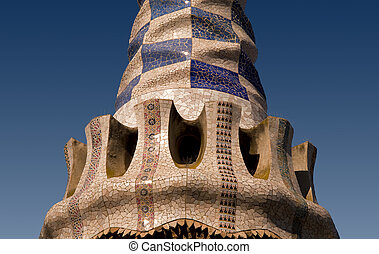 Architecture Details In Barcelona By Gaudi Stock Images