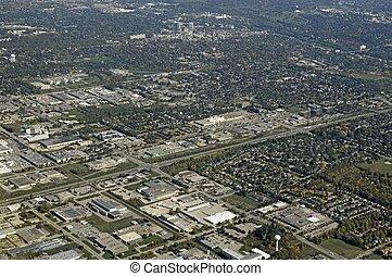 Guelph, Ontario aerial