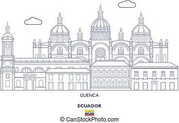 Guenca City Skyline, Ecuador - Guenca Linear City Skyline,...