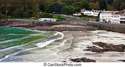 Guernsey Beach - Beach at St Peter Port in Guernsey in the...