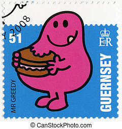 GUERNSEY - CIRCA 2008: A stamp printed in Guernsey shows mr...