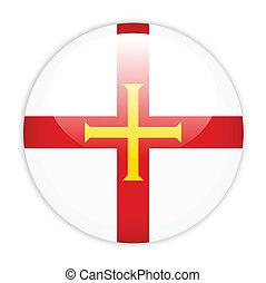 Guernsey flag button
