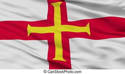 Guernsey Flag Closeup Seamless Loop