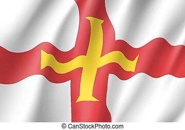 Guernsey national flag vector illustration - Guernsey,...