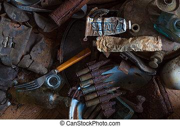guerra, eco, em, norte, montanhas, soldado, equipamento
