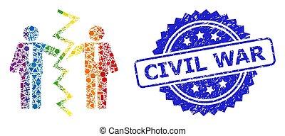 guerra, geomã©´ricas, selo, civil, homens negócios, divórcio...
