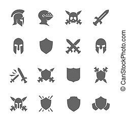 guerra, iconos