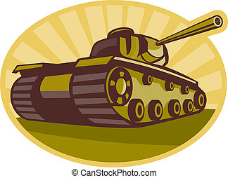 guerra mondo due, battaglia, serbatoio, punteria, cannone,...