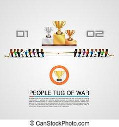 guerra, premio, tirón