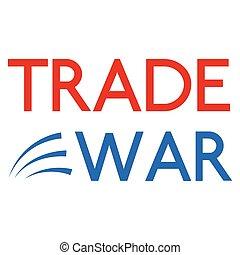 guerre, fond, commercer