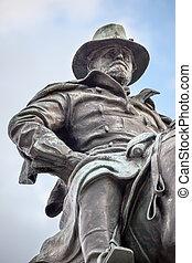 guerre, nous, colline, washington, civil, dc, statue, capitole, subvention, commémoratif