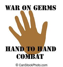 guerre, sur, germes
