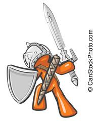 guerreira, desenho, mascote