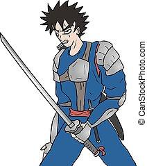 guerreira, rebelde, ilustração