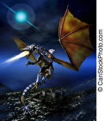 guerrero, dragón