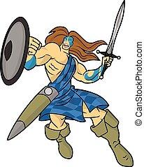 guerrero, montañés, caricatura