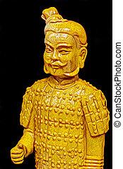 guerrero, terracota, chino