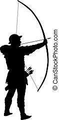 guerreros, tema, archer.