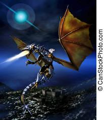 guerrier, dragon