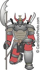 guerrier, fort, shogun