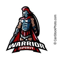 guerrier, romain, logo.