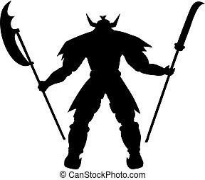 guerrier, shogun, illustration