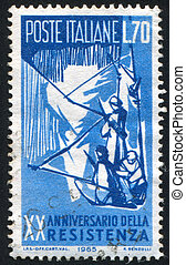 Guerrilla Fighters - ITALY - CIRCA 1965: stamp printed by...