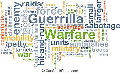 Guerrilla warfare background concept - Background concept...