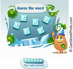 guess the word icicle - educational game for kids and adults...