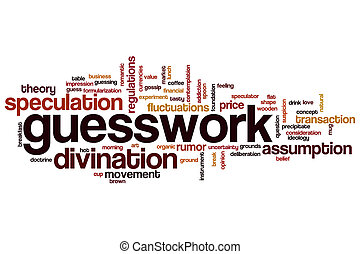 Guesswork word cloud