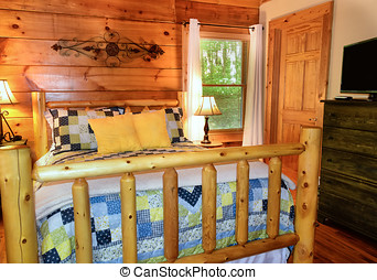 Guest Bedroom in Cabin