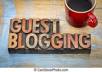 guest blogging banner - guest blogging - internet concept -...