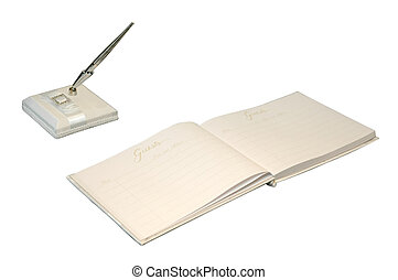 Guest Book - Guest book on table at special occasion.