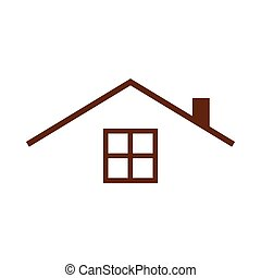 Guest House Roof Top Simple Vector Graphic Illustration ...