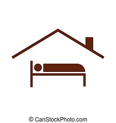 Guest House Symbol Simple Vector Graphic Illustration Image