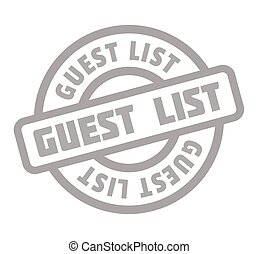 Guest List rubber stamp