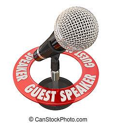 Guest Speaker Microphone Presentation Discussion Panelist - ...